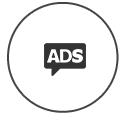 Realização de anúncios na internet